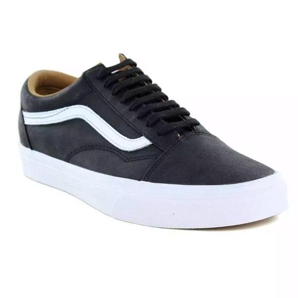 f844493f6dbcea Vans old skool leather sneakers shoes new black